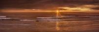 The coast at sunset