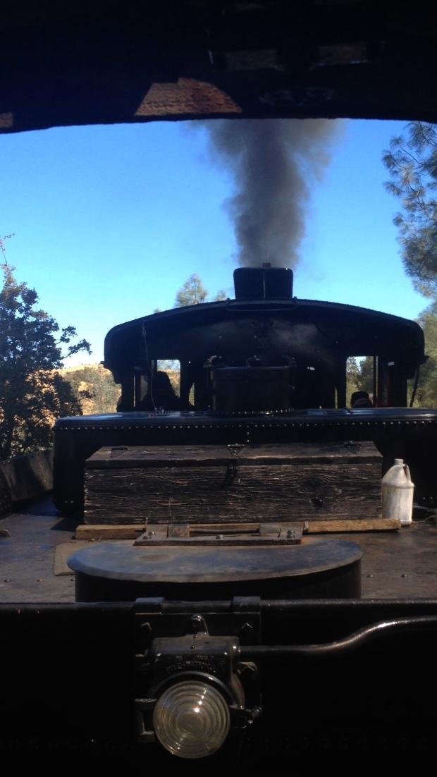 Riding the steam train at Railtown !