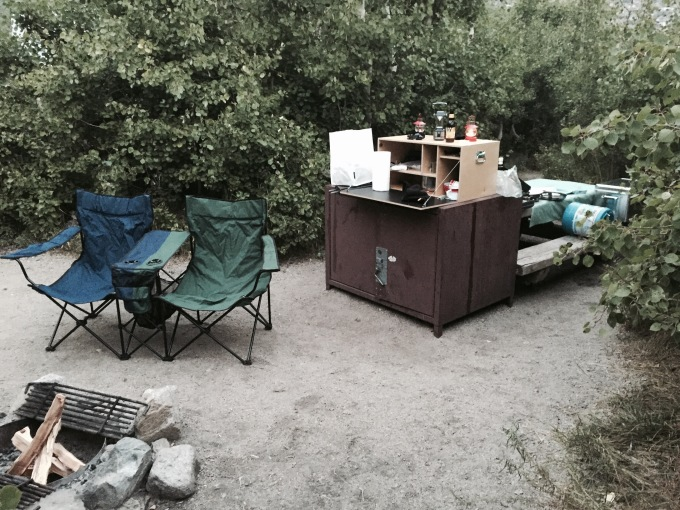 Onion Valley Campground. High Sierra camping with a fire pit provided !
