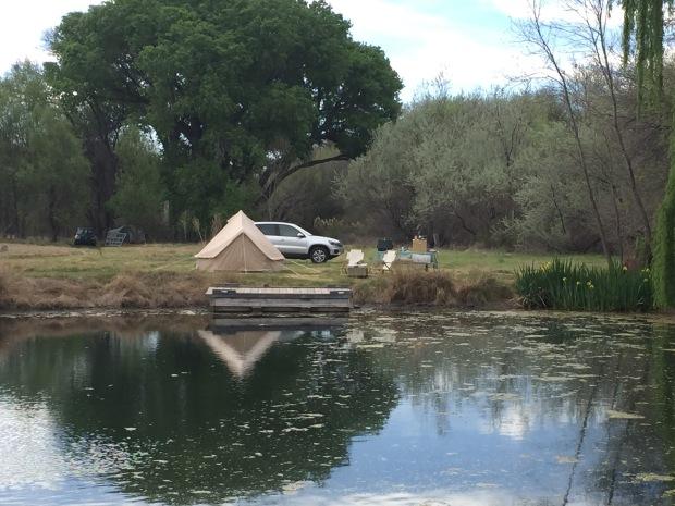 Pond-side camping at Lo Lo Mai Resort, near Sedona, AZ.
